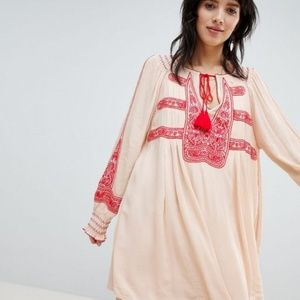 Free People Wind Willow Mini Dress in Cashmere